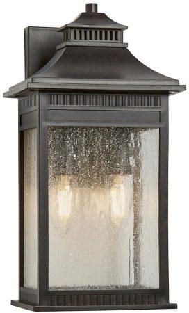 Quoizel Livingston 2 Light Medium Outdoor Wall Lantern Imperial Bronze