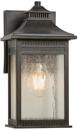 Quoizel Livingston 1 Light Small Outdoor Wall Lantern Imperial Bronze