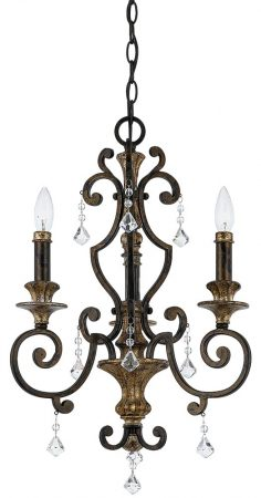 Quoizel Marquette 3 Light Wrought Iron Chandelier Heirloom