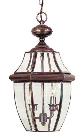 Quoizel Newbury 2 Light Large Hanging Porch Lantern Aged Copper