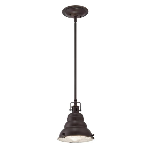 Quoizel East Vale 1 Light Mini Pendant Light Palladian Bronze