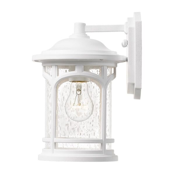 Quoizel Marblehead 1 Light Small Outdoor Wall Lantern Textured White