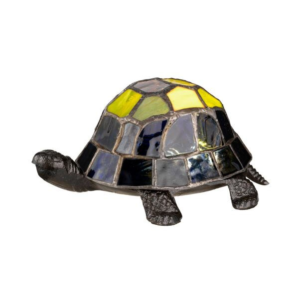 Quoizel Tiffany Art Glass Handmade Multi Coloured Tortoise Table Lamp