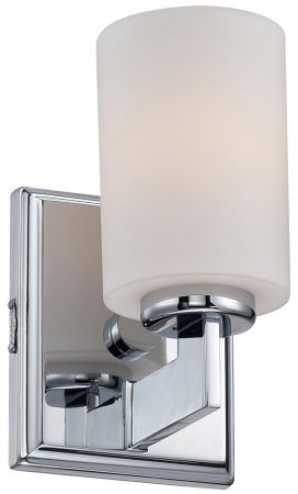 Quoizel Taylor Polished Chrome 1 Light Small Bathroom Wall Light IP44