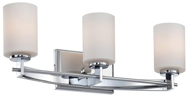 Quoizel Taylor Polished Chrome 3 Light Bathroom Over Mirror Light IP44