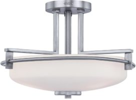 Quoizel Taylor Chrome Semi Flush 3 Light Bathroom Ceiling Light IP44