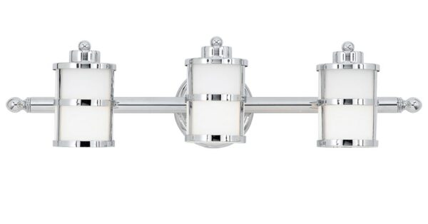 Quoizel Tranquil Bay 3 Light Bathroom Over Mirror Light Polished Chrome