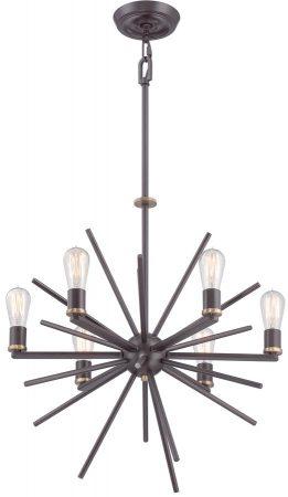 Quoizel Carnegie 6 Light Designer Pendant Chandelier Western Bronze