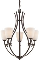 Chantilly Iron Birdcage 5 Light Chandelier Palladian Bronze