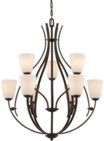 Chantilly Birdcage 9 Light 2 Tier Chandelier Palladian Bronze
