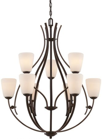 Quoizel Chantilly Birdcage 9 Light 2 Tier Chandelier Palladian Bronze