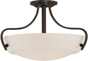 Chantilly Semi Flush 3 Light Fitting Palladian Bronze