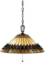 Chastain Arts And Crafts Style 3 Light Tiffany Pendant Lamp