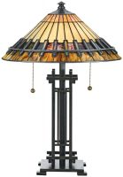 Chastain Arts And Crafts Style 2 Light Tiffany Table Lamp