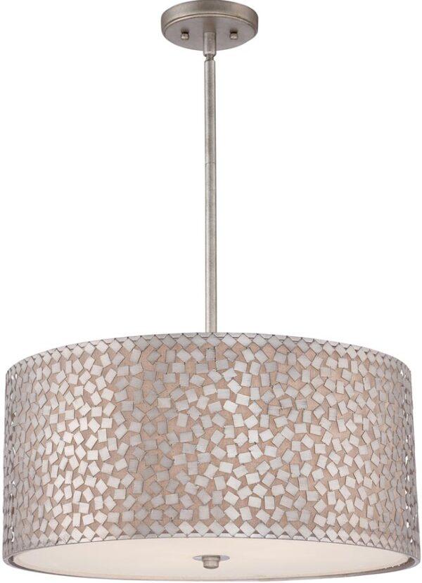 Quoizel Confetti 4 Light Large Designer Pendant Old Silver Finish