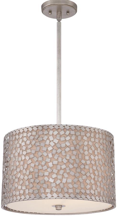 Confetti 3 light medium designer pendant old silver