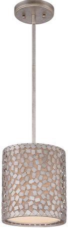 Quoizel Confetti 1 Light Mini Designer Pendant Old Silver Finish
