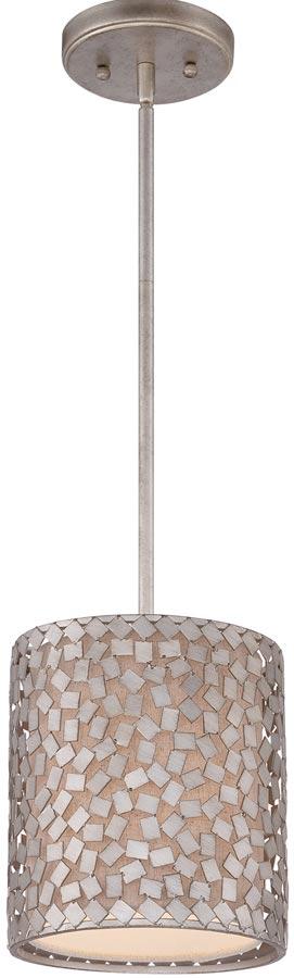Quoizel Confetti 1 Light Mini Designer Pendant Old Silver