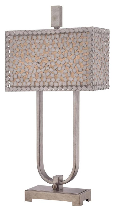 Confetti 2 light designer desk or table lamp old silver