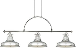 Quoizel Emery 3 Light Imperial Silver Industrial Island Pendant