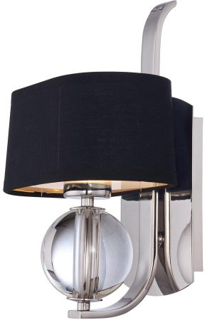 Quoizel Gotham Designer Wall Light With Shade Imperial Silver