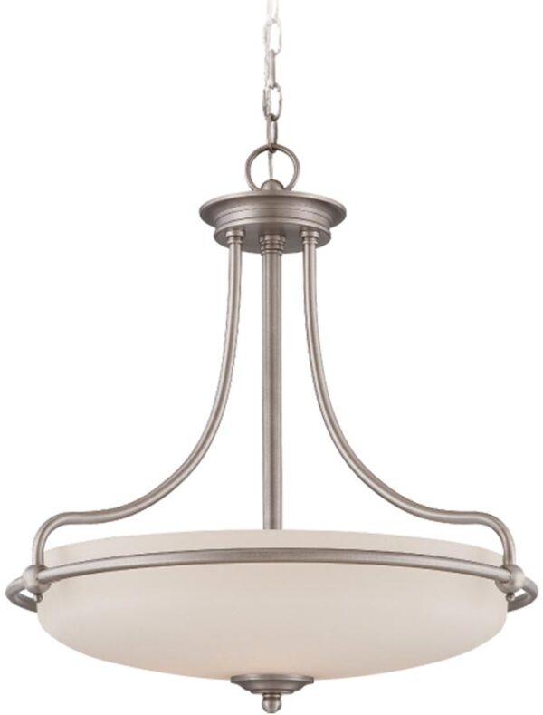 Quoizel Griffin Antique Nickel Art Deco Style 4 Light Pendant
