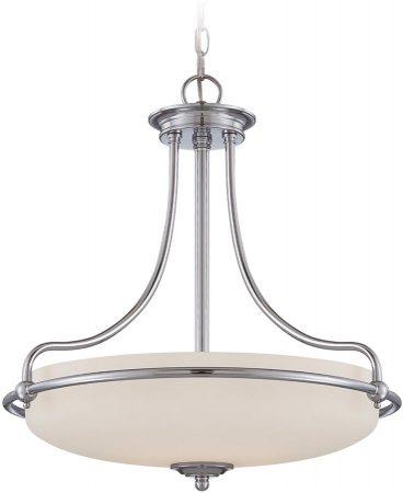 Quoizel Griffin Polished Chrome Art Deco Style 4 Light Pendant