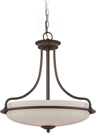 Quoizel Griffin Palladian Bronze Art Deco Style 4 Light Pendant