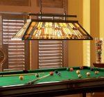Inglenook Art Deco Style 3 Lamp Tiffany Snooker Island Light