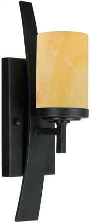 Quoizel Kyle Imperial Bronze 1 Lamp Wall Light With Onyx Shade