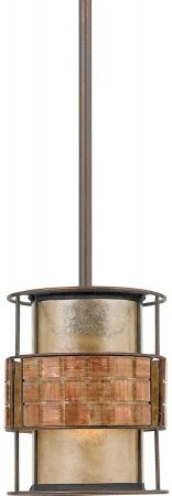 Quoizel Laguna Art Deco 1 Light Mini Kitchen Pendant Copper Finish