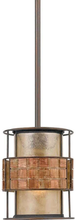 Quoizel Laguna Art Deco 1 Light Mini Kitchen Pendant Copper Finish