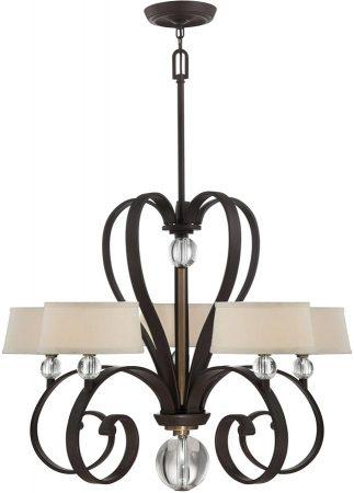 Quoizel Madison Manor 5 Light Designer Chandelier Western Bronze