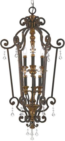 Quoizel Marquette Large 6 Light Hanging Open Lantern Heirloom