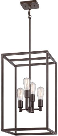 Quoizel New Harbor 4 Light Ceiling Pendant Western Bronze