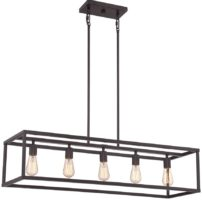 Quoizel New Harbor Bronze 5 Light Open Island Chandelier