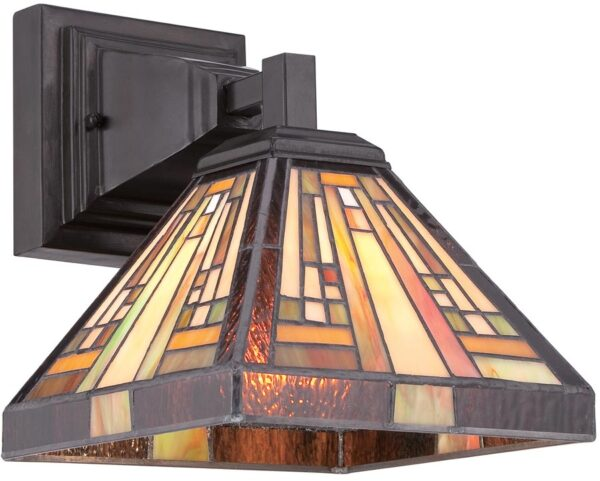 Quoizel Stephen Art Deco Style Pyramid Tiffany Wall Light