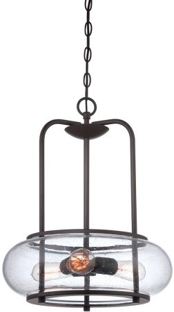 Quoizel Trilogy 3 Light Pendant Ceiling Light Old Bronze
