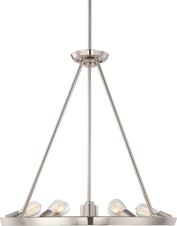 Quoizel Uptown Theater Row 7 Light Chandelier Imperial Silver
