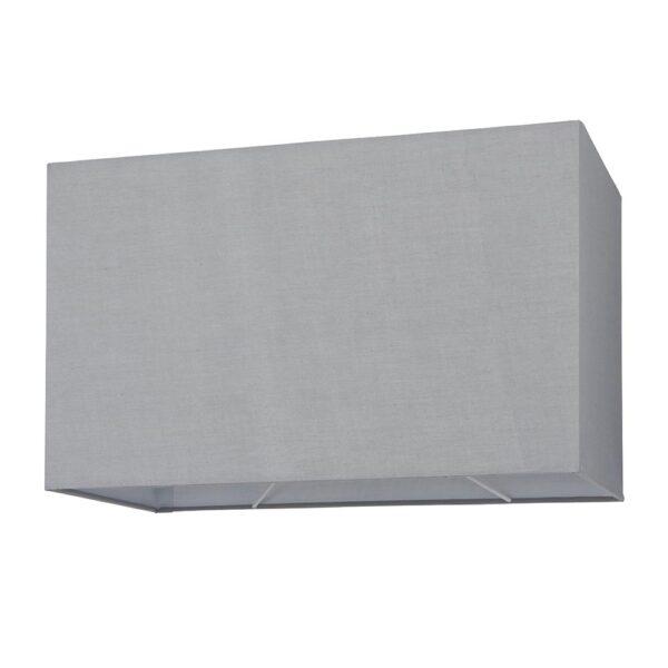 Rectangular 16 Inch Cool Grey Cotton Box Floor Lamp Shade E27