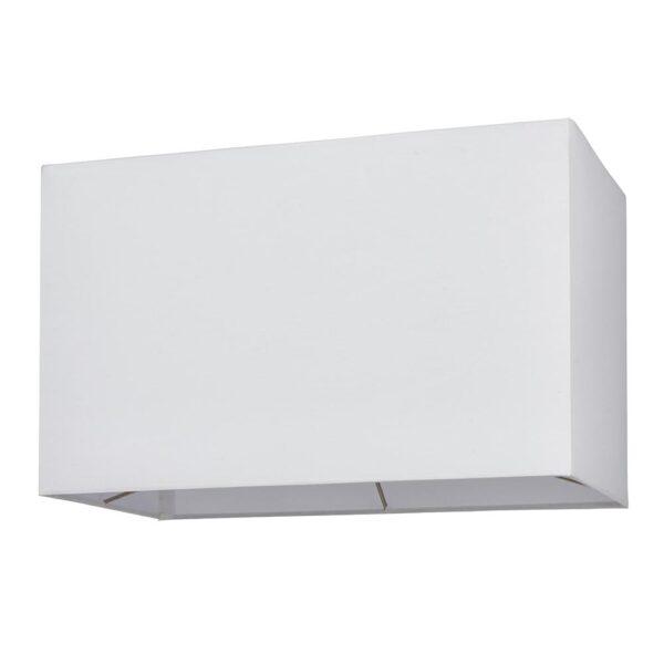 Rectangular 16 Inch Vintage White Cotton Box Floor Lamp Shade E27