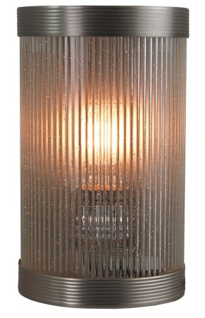 Reeded Clear Glass Bathroom Wall Light UK Made