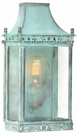 Elstead Regents Park Verdigris Solid Brass Outdoor Wall Light
