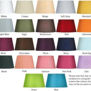 Tapered Cotton 51cm Floor Lamp Shade Choice 22 Colours
