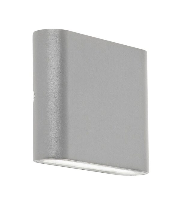 Modern Compact LED Exterior Wall Up & Down Light Textured Grey IP44