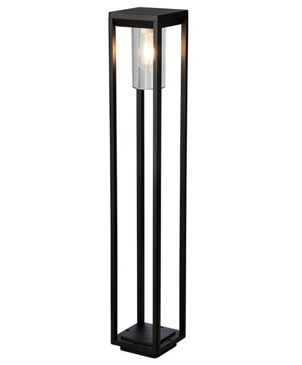 Modern 1 Light Open Frame 90cm Outdoor Bollard Light Sand Black IP44