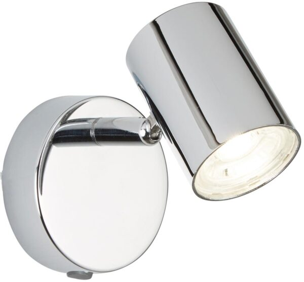 Rollo Polished Chrome Switched 1 Light LED Wall Mounted Spotlight
