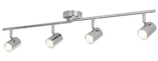 Rollo Polished Chrome 4 Light LED Ceiling Mounted Spotlight Bar
