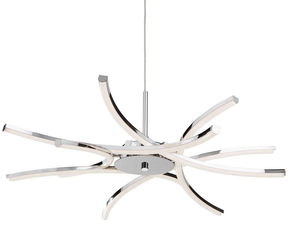 Bardot 6 Light LED Pendant Ceiling Light Polished Chrome