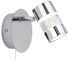 Bubbles Polished Chrome Switched LED Bathroom Wall Spotlight IP44